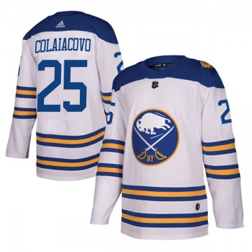 Authentic Adidas Men's Carlo Colaiacovo Buffalo Sabres 2018 Winter Classic Jersey - White